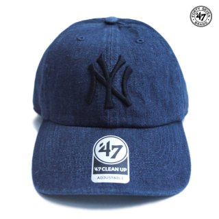【メール便対応】47 BRAND CLEAN UP CAP NEW YORK YANKEES【DENIM】