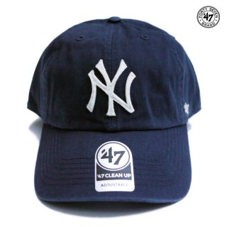 【メール便対応】47 BRAND CLEAN UP CAP NEW YORK YANKEES【NAVY】