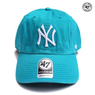【メール便対応】47 BRAND CLEAN UP CAP NEW YORK YANKEES【AQUA】