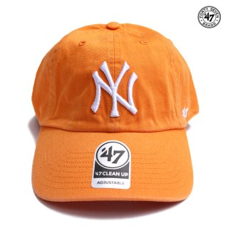 【メール便対応】47 BRAND CLEAN UP CAP NEW YORK YANKEES【ORANGE】