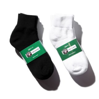 SHORT SOCKS【WHITE/BLACK】【5足セット】