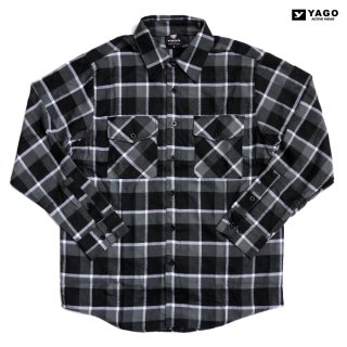 YAGO FLANNEL SHIRTS【BLACK×GRAY】