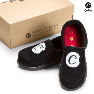 <img class='new_mark_img1' src='https://img.shop-pro.jp/img/new/icons59.gif' style='border:none;display:inline;margin:0px;padding:0px;width:auto;' />COOKIES SF WAKE&BAKED HOUSE SHOES【BLACK】