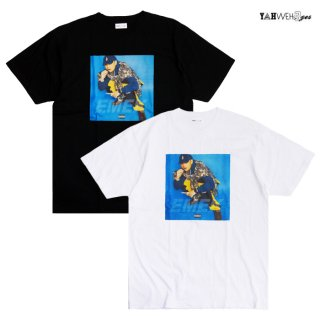 【メール便対応】YAHWEHS EYES KUTS DA COYOTE EMEK LIMITED Tシャツ【BLACK/WHITE】