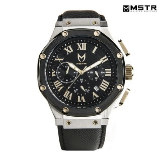MSTR WATCHES AMBASSADOR【SILVER / BLACK / SAFFIANO BAND】【AM162SB】