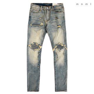 <img class='new_mark_img1' src='https://img.shop-pro.jp/img/new/icons59.gif' style='border:none;display:inline;margin:0px;padding:0px;width:auto;' />MNML X162 STRETCH DENIM PANTS【WASH BLUE】