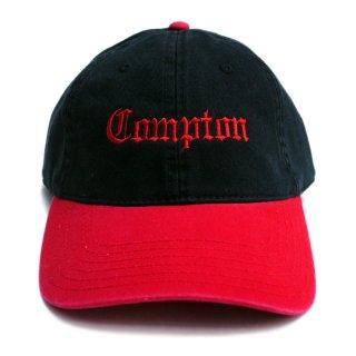 【メール便対応】COMPTON STRAPBACK CAP【BLACK×RED】【CITY CAP】
