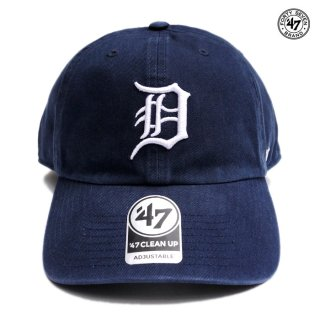 【メール便対応】47 BRAND CLEAN UP CAP DETROIT TIGERS【NAVY】