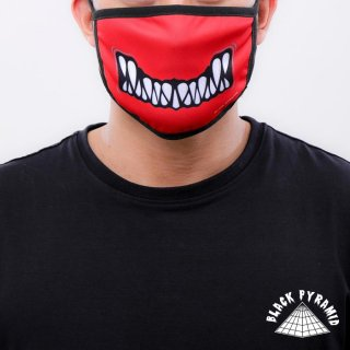 【メール便対応】BLACK PYRAMID FACE MASK【RED】