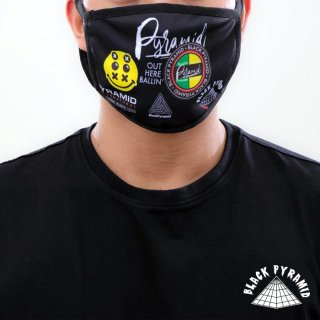 【メール便対応】BLACK PYRAMID FACE MASK【BLACK】