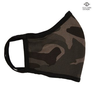 【メール便対応】GOLDEN DENIM FACE MASK【CAMOUFLAGE】
