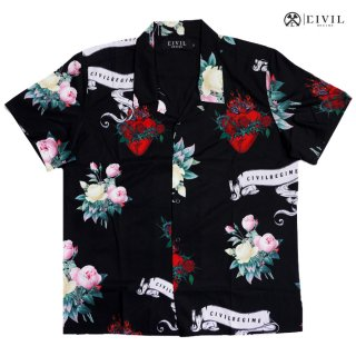 CIVIL REGIME BURNING SHIRTS【BLACK】