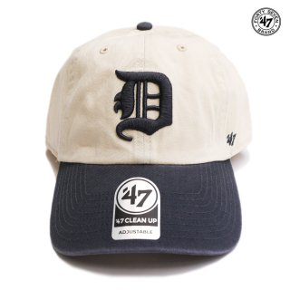 【メール便対応】47 BRAND CLEAN UP CAP DETROIT TIGERS【NATURAL】