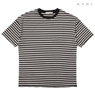 【メール便対応】MNML STRIPED DROP Tシャツ【BLACK×WHITE】