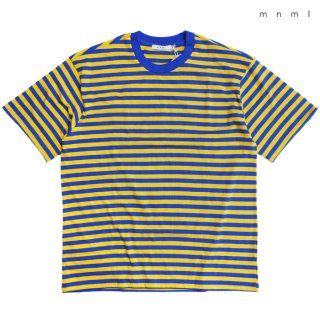 【メール便対応】MNML STRIPED DROP Tシャツ【BLUE×YELLOW】