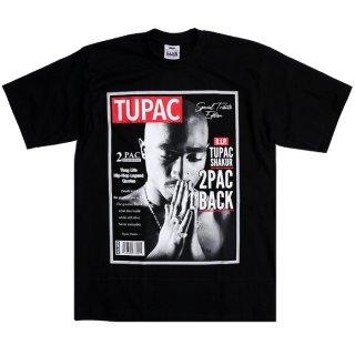 【メール便対応】2PAC PRINT T-SHIRTS【BLACK】