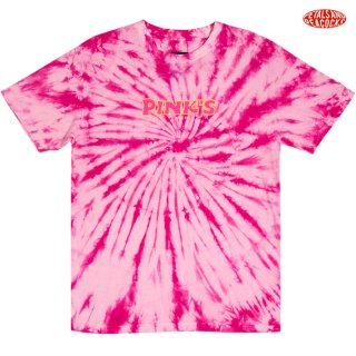 【メール便対応】PETALS AND PEACOCKS×PINK'S SAUCE TIE DYE Tシャツ【PINK】