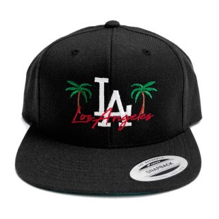 LA PALM CUSTOM EMB SNAPBACK CAP【BLACK】