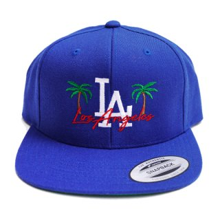 LA PALM CUSTOM EMB SNAPBACK CAP【ROYAL BLUE】