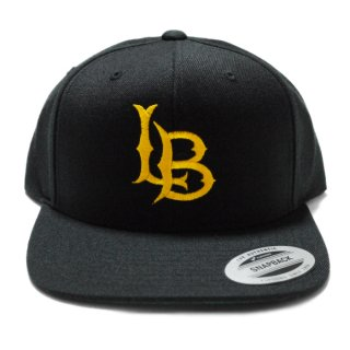 LONG BEACH FLAT EMB SNAPBACK CAP【BLACK×YELLOW】