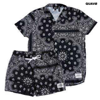 QUAVO BANDANA SHIRTS & SHORTS SETUP【BLACK】