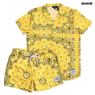 QUAVO BANDANA SHIRTS & SHORTS SETUP【YELLOW】