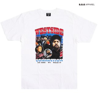 【メール便対応】S.O.G APPAREL WESTSIDE CONNECTION Tシャツ【WHITE】