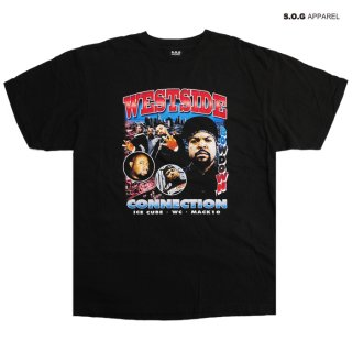【メール便対応】S.O.G APPAREL WESTSIDE CONNECTION Tシャツ【BLACK】