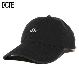 【メール便対応】DOPE SMALL LOGO STRAPBACK CAP【BLACK】