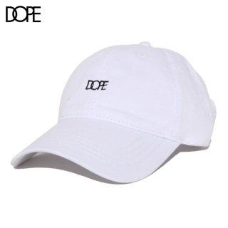 【メール便対応】DOPE SMALL LOGO STRAPBACK CAP【WHITE】