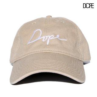 【メール便対応】DOPE SCRIPT STRAPBACK CAP【BEIGE】