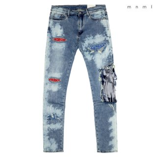 MNML X161 STRETCH DENIM PANTS【WASH BLUE】