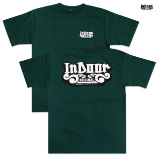 【メール便対応】INDOOR ORIGINAL Tシャツ【DARK GREEN】