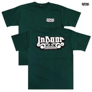 【メール便対応】INDOOR ORIGINAL Tシャツ【DARK GREEN】