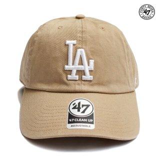 【メール便対応】47 BRAND CLEAN UP CAP LOS ANGELES DODGERS【KHAKI】