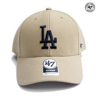 47 BRAND MVP CAP LOS ANGELES DODGERS【KHAKI】