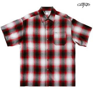 CAL TOP OPEN SHIRTS【RED×WHITE】