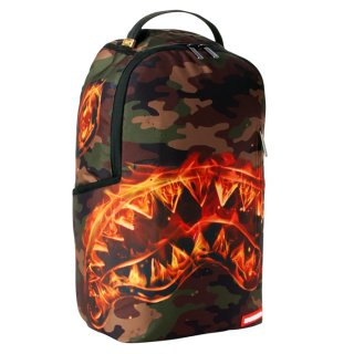 SPRAYGROUND FIRE SHARK BACKPACK【CAMOUFLAGE】