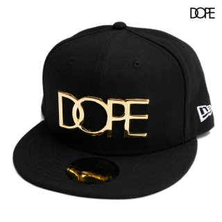 DOPE×NEW ERA 24K LOGO CAP【BLACK】