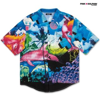 【期間限定★50%OFF】【メール便対応】PINK DOLPHIN CLOTHING REALIZE OCEAN OPEN SHIRTS【MULTI COLOR】