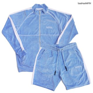 SWAE LEE VELOUR SHORTS×TRACKSUIT SETUP【LIGHT BLUE】