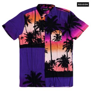 【メール便対応】REASON CLOTHING NIGHT STRIP SHIRT【MULTI COLOR】