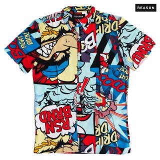 【メール便対応】REASON CLOTHING MONEY CALLS BIAS SHIRT【MULTI COLOR】