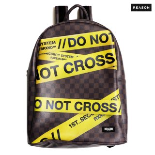 REASON CLOTHING DO NOT CROSS BACKPACK【BROWN】