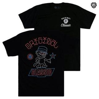 【メール便対応】OG FAMILY NEON CAT Tシャツ【BLACK】