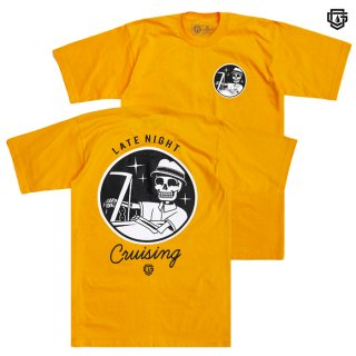 【メール便対応】OG FAMILY LATENIGHT CRUISING Tシャツ【YELLOW】