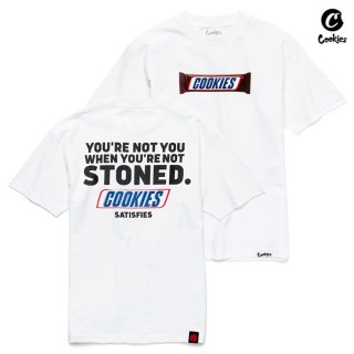 【メール便対応】COOKIES SF SATISFY Tシャツ【WHITE】