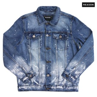 【送料無料】REASON CLOTHING LONER DENIM JACKET【WASH BLUE】