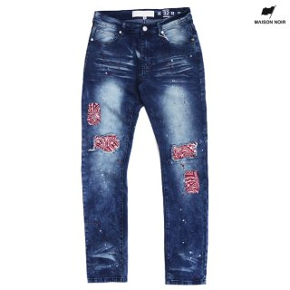 【送料無料】MAISON NOIR SATURDAY DENIM PANTS【WASH BLUE】