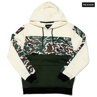 REASON CLOTHING CAMO HOODIE【CREAM】